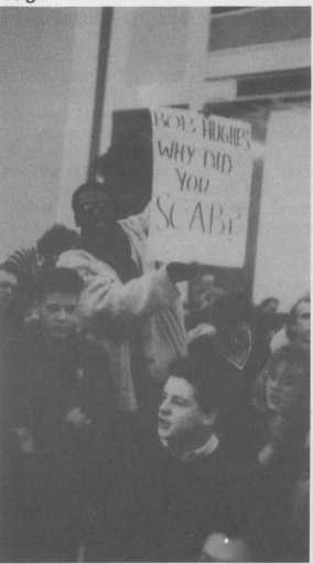 City Group supporters at the AAM AGM, January 1987 (Source: Non-Stop Against Apartheid, 16)