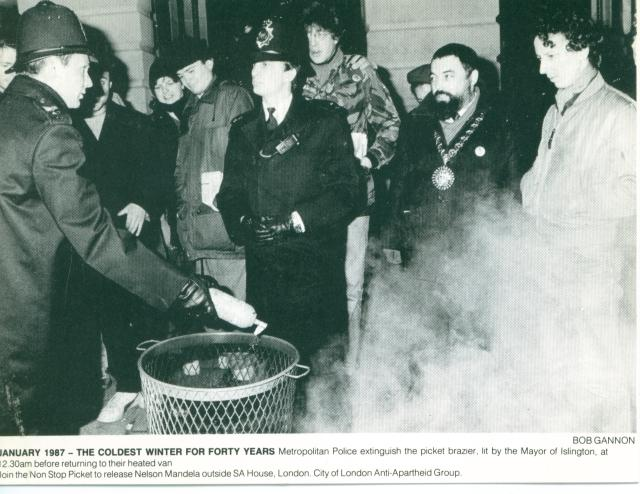A postcard produced by City Group recording the first attempt to light the brazier (Source: Andy Higginbottom)