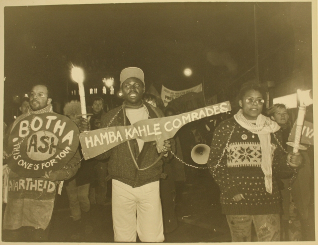 City Group supports march to the South African Embassy, 10 January 1987 (Source: City Group)