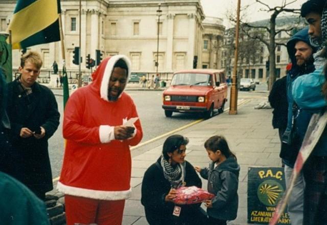 Zolile Keke as 'Father Freedom', Christmas Day 198 (Source: Hema Patel)
