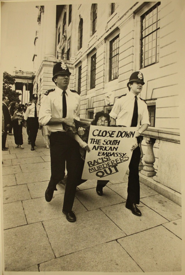 Arrest on a City Group protest c. 1984/85 (Source: City Group)