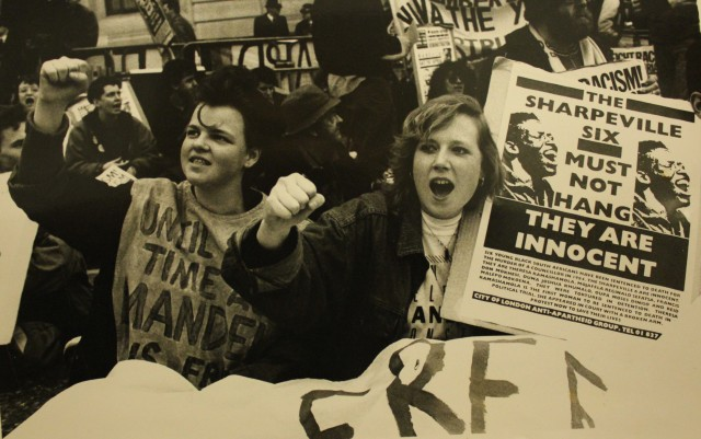 Non-Stop Picketers' sit-down protest, 16 April 1988 (Source: City Group)