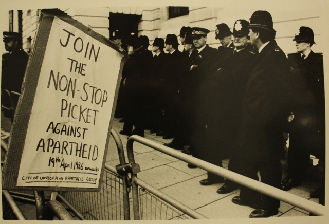 Placard announces the Non-Stop Picket (Source: City Group)