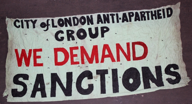 Demanding action against apartheid (Source: City Group)