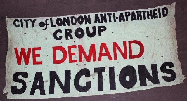 Demanding action against apartheid (Source: City Group)