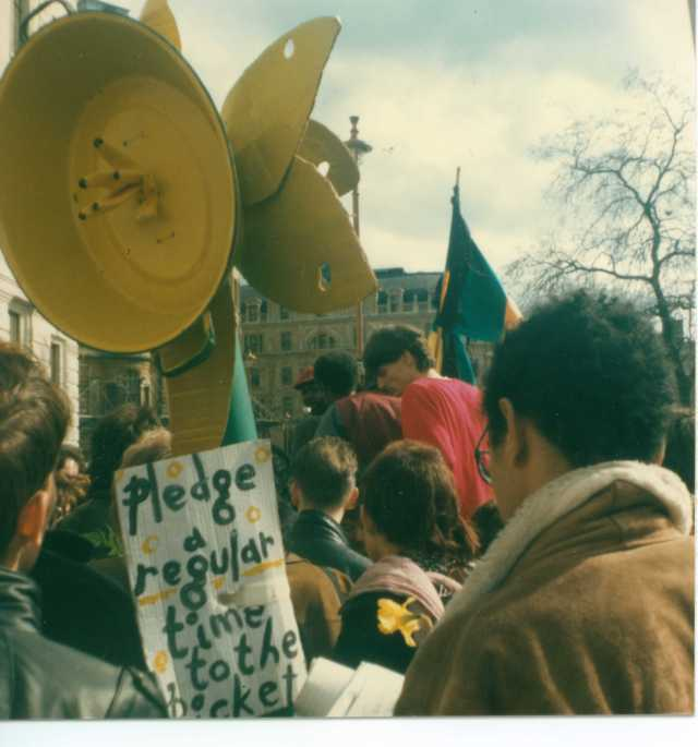 Daffodil sound system on the first anniversary of the Picket, April 1987 (Source: Gavin Brown)