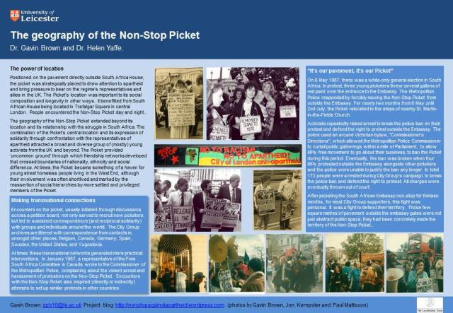 Poster 2: the geography of the Non-Stop Picket