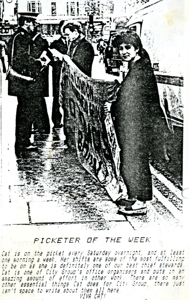 Cat, Picketer of the Week, 2 September 1988 (Source: City Group)