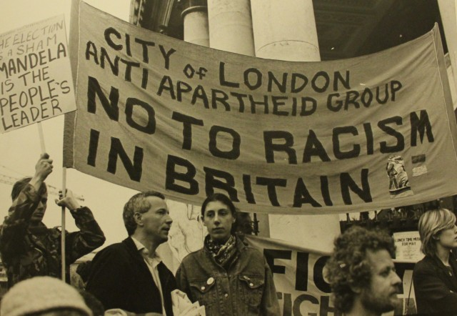 City Group protest against racism, 1987 (Source: City Group)