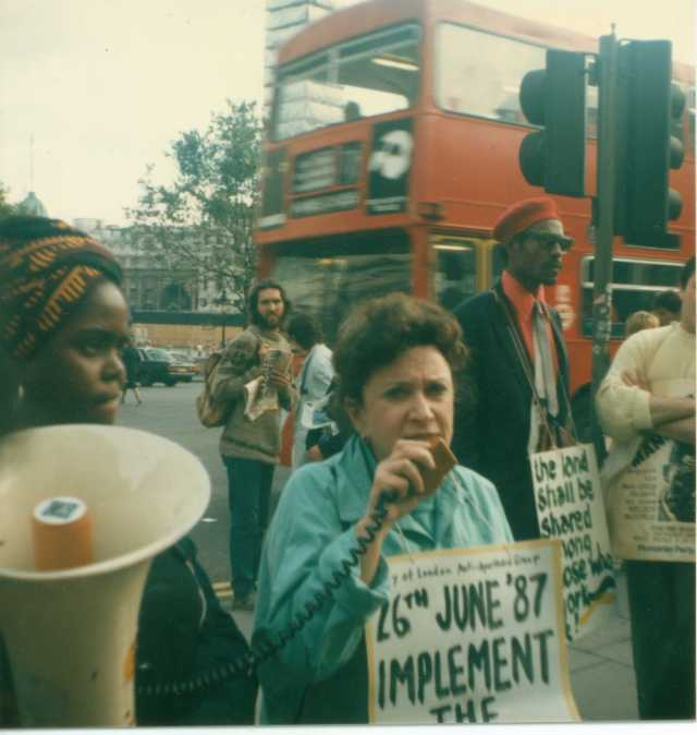 Norma Kitson prior to her arrest, 26 June 1987 (Source: Gavin Brown)