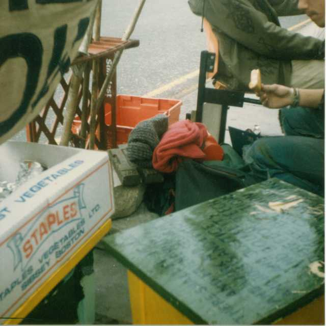 Non-Stop Picket infrastructure, Spring 1989 (Source: Gavin Brown)