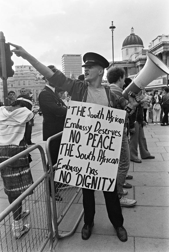 No 'peace and dignity' for apartheid (Photographer: Rob Scott)