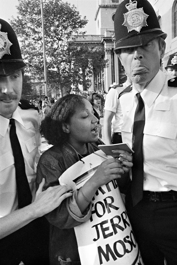 Policing the South African Embassy Picket Campaign, June 1984 (Photographer: Rob Scott)