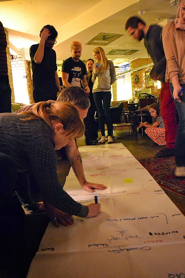 Leicester People's University participants map youthful resistance (Photographers: Ambrose Musiyiwa and Emma Racz)